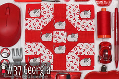 gnomeangel-farmers-wife-1930-block-37-georgia (gnomeangel) Tags: modern quilt quilting patchwork tutorial farmerswife fussycutting gnomeangel fussycuttersclub farmerswife1930