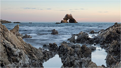 Little Corona Arch Rock (B.C.III Photography) Tags: ocean california longexposure sunset sea seascape water canon flow rocks newportbeach pacificocean orangecounty dslr coronadelmar archrock littlecorona