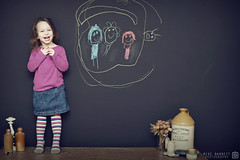 Mike Barrett - 365 Photo Project 2016 - Day 43 (Mike Barrett Photography) Tags: family england home kitchen girl wall youth canon fun happy chalk toddler child drawing daughter young excited youthful 365 chalkboard blackboard westyorkshire childlike canon5dmark2 canon5dmarkii