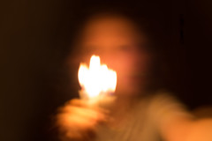 Selfie (nuvemiridescente) Tags: portrait blur canon candlelight slowshutterspeed selfie