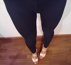 Leggings Bulge... (Julia Cool) Tags: sandals transgender sissy trap leggings bulge tranvestite legging juliacool