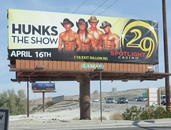 March 15, 2016 (2) (gaymay) Tags: california gay love animals zoo desert hats billboard 29 hunks palmdesert livingdesert
