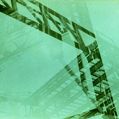 cranes (pho-Tony) Tags: color colour green film weather contrast rollei 35mm lomo xpro cross doubleexposure grain shift slide tint ishootfilm plastic cast soviet crossprocessing pro t43 analogue 135 40mm process russian triplet 8m hue e6 f4 smena ussr cccp smena8m viewfinder colorcast omo colourcast c41  filmisnotdead  madeinussr tetenal autaut cr200 digibase rolleicr200 rolleidigibasecr200pro filmrolleidigibasecr200