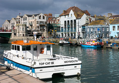 Saturday Morning, Weymouth (dorsetpeach) Tags: sea england boat harbour dorset fishingboat weymouth weymouthharbour oldharbour topcat