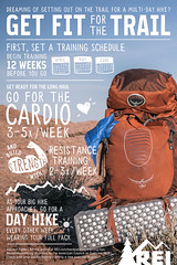 Thru-Hiking: Training Tips and Exercises (inspiration_de) Tags: hiking fitness infographics