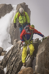 On the Arête (Stefsan (on and off)) Tags: mist snow france mountains alps weather clouds canon eos 7d glaciers mountaineering peaks chamonix mountaineer aiguilledumidi alpinism alpineclimbing montblancmassif arêtedescosmiques stefsan mountainsnaps ©stefansandmeier