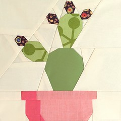 Prickly Paper Piece Pattern (Modern Quilting by B) Tags: cactus paper pattern quilt mini block piece