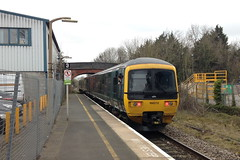 20160319 001 Pershore. 166212 Departs With 1W13 07.21 Paddington - Great Malvern (15038) Tags: br diesel trains railways britishrail pershore dmu class166 166212