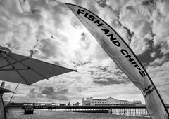 Fish & Chips In Brighton (Sean Hartwell Photography) Tags: uk sea sky fish beach sussex coast pier seaside brighton chips coastal british tacky southcoast englishchannel palacepier grotty