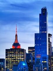 Essex House (ZoKë) Tags: red newyork buildings cityscape manhattan empirestate essexhouse