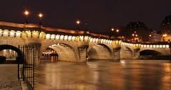 Pont Neuf Paris France (letang.gilles) Tags: longexposure paris france seine night de pont capitale neuf nuit btiment ville bord immeuble fleuve patrimoine balade parisienne parisien longuepose exterieur canon100d