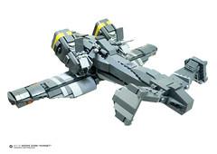 BACK VIEW: WZ-13 Wespe Zorn Hornet (Benjamin Cheh) Tags: airplane design lego gunship moc