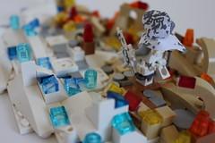 Wolf_2 (TH3_J03Y_G) Tags: shadow snow ice fire wolf desert lego camo hood custom wanderer minifigure apoc moc postapocalyptic