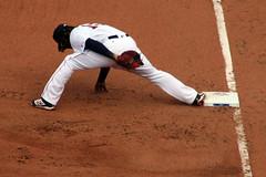 Gumby mode (ConfessionalPoet) Tags: baseball redsox 1b firstbase hanleyramirez firstbaseman openingday2016