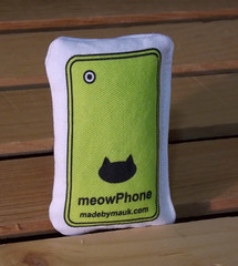 Cat Toy - meowPhone Yellow (made by mauk) Tags: cat toys catnip spoonflower madebymauk