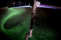 Before the shutters closed (Tim Peake) Tags: aurora australis canadarm