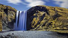 Skogafoss my dear (R - P Photography) Tags: green water waterfall iceland eau alone vert vik cascade islande seul skogafoss skogar