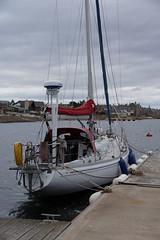 Raasay back in Findhorn - on the pontoons (ajax_pc) Tags: 34 pontoons findhorn rival raasay 34d