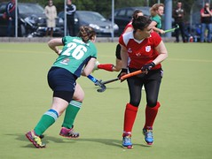 Rebecca having won the ball and slipped past the Harlequins defense to begin a Greenfields attack (Greenfields Hockey Club) Tags: hockey cork connacht quins harlequins greenfields dangan ihl irishhockeyleague greenfieldshockeyclub irishhockey connachthockey hockeygalway corkharlequins