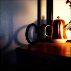 table and teapot (johngpt) Tags: table shadows teapot hipstamatic appleiphone5 lowylensblankofilmnoflash