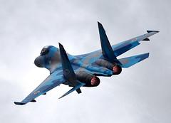 Flanker (Bernie Condon) Tags: uk tattoo plane flying fighter display aircraft aviation military ukraine airshow bomber warplane airfield ffd fairford sukhoi su27 raffairford airtattoo flanker