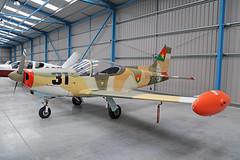 G-NRRA (BF8431 - 31) SIAI-Marchetti SF260W Warrior Burkina Faso Air Force Colours In Hangar Lydd 27th February 2016 (michael_hibbins) Tags: