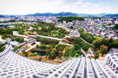 Himeji Castle. Japan  ( (Morris)) Tags: park sky orange tree green japan nikon outdoor ngc  himejicastle  d7100