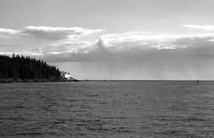 Browns Head Light Maine 8-22-1988mrf2 (ironmike9) Tags: ocean sea lighthouse water clouds island coast boat seaside ship maine vessel atlantic sail schooner vinalhaven seacoast uscg roseway brownshead foxislandthorofare