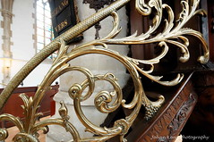 Symbols in the banister to the pulpit (Johan Konz) Tags: church haarlem netherlands architecture interior banister pulpit groteofsintbavokerk basilicalstyle greatorsaintbavochurch lategothiccrossbasilica