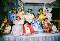 Lotta dolls (jfpj) Tags: california film angel lowresolution dolls fuji toycamera saints sanjose vivitar fleamarket plasticcamera trashcam fuji400film 10faves vivitarultrawideandslim