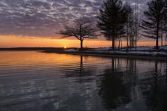 Wading in the Sunrise (wiltsepix) Tags: lake sunrise point michigan detroit higgins