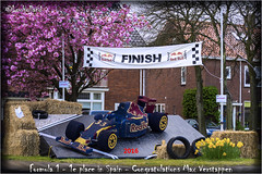 Formula 1 car, covered wire structure with flowers of the bulb fields (louholland) Tags: max f1 racing circuit formule1 formula1 verstappen maxverstappen
