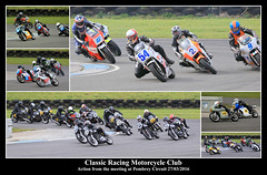 Motorcycle action (JDPhotography -) Tags: collage collages motorcycles motorcycleracing johndavies canonef100400mmf4556lisusm crmc classicracingmotorcycleclub jdphotography picasa3 pembreyracetrack copyrightjohndavies barcpembrey pembreycircuit canoneos7dmark11