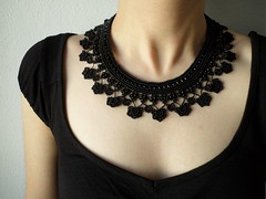 Black collar lace necklace with beaded crochet flowers by irregular expressions (irregular expressions) Tags: necklace jewelry beaded beadednecklace blackflower crochetflower beadedflower crochetnecklace blacknecklace beadedcrochet collarnecklace lacenecklace beadedlace irregularexpressions statementnecklace beadworknecklace seedbeadnecklace blacklacenecklace blackneckpiece beadedcrochetnecklace beadworkflower