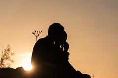 couple figures.. (orestisvaresis) Tags: longexposure sunset sun love beautiful loving hugging hug kiss couple greece figures ioannina longlight epirus