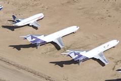 FedEx Boeing 727-233F; N282FE@VCV;02.02.2016 (Aero Icarus) Tags: plane aircraft fedex flugzeug avion freighter victorville trijet boeing727 vcv planegraveyard southerncalifornialogisticsairport n282fe