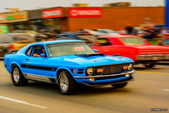 1970 Ford Mustang Mach 1 (kenmojr) Tags: auto show cruise classic ford car vintage drive 1971 nikon driving antique cruising newbrunswick moncton vehicle mustang nikkor carshow musclecar ponycar 18105 mach1 mountainroad 2015 atlanticnationals kenmorris kenmo d7100