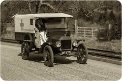 WW1 First Aid Nursing Yeomanry Corps Ambulance (saxman1597) Tags: england museum landscape transport historic ambulance nurse ww1 sepiatone fordmodelt countydurham beamishmuseum classictransport nikond3300 nikon18300vr greatwarsteamfair firstaidnursingyeomanrycorps