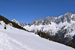 Hiver ou Printemps Winter or spring Chamonix Mont Blanc Nr 1 (CHAM BT) Tags: winter white mountain snow france alps montagne alpes walking roc hiking hiver rando trace peak pic valley summit neige chamonix blanc rocher massif hautesavoie sommet vallee