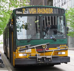 King County Metro Breda Trolley 4215 (zargoman) Tags: seattle county travel bus electric king metro trolley transportation transit converted breda articulated kiepe elektrik kingcountymetro highfloor