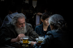 Bad day (mcbiofa) Tags: beer bar lunch eating bucharest granpa granfather pranzo nonni carucubere