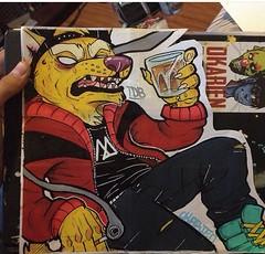 Thug Dingo (OKARIEN) Tags: street art montana paint acrylic mail dumb label stickers usps priority markers dingo tdb slaps molotow okari paintmarkers uspsstickers label228 decocolor uspsslaps okarien dumbdingo