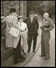 Wartime group shot (zweiblumen) Tags: uk england monochrome dudley westmidlands tipton polariser blackcountrylivingmuseum canoneos50d zweiblumen photoshopcs4