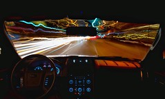 Making the jump to light speed. (Spencer Finlay) Tags: longexposure nightphotography car vancouver speed starwars nightimages lighttrails backtothefuture