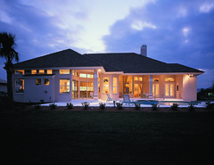 Innsbrook Place Home Plan by The Sater Design Collection (Sater Design Collection) Tags: pool verandah rearelevation