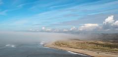 Ogmore Sea Fog (Andy.Gocher) Tags: uk sea sky mist seascape beach water fog southwales wales clouds river europe bluesky ogmore bridgend ogmorebysea canon100d andygocher