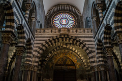 The Rose Window of San Lorenzo (lncgriffin) Tags: travel italy art architecture zeiss europa europe italia cathedral sony medieval genoa genova sanlorenzo fresco sonnar rosewindow sonnar35mmf2 rx1r cathedralofgenoa cattedraedisanlorenzo