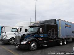 Werner Enterprises black Peterbilt 579, Truck #65919 (Michael Cereghino (Avsfan118)) Tags: tractor black truck model semi pete 579 trucking sleeper werner peterbilt enterprises