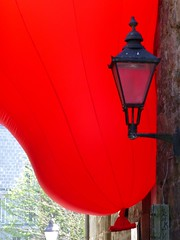 Interzone by Iain Kettles (Paul Profili) Tags: red art lamp look festival design scotland balloon structures again aberdeen inflatable visual interzone thegreen martinslane iainkettles