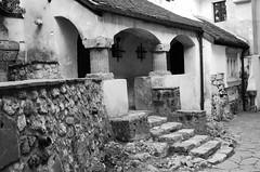 Bran Castle (PM Kelly) Tags: blackandwhite house black halloween stone night dark scary blood shadows exterior vampire steps dracula haunted romania garlic transylvania legend bnw bats vlad impaler fright stake bran vampaire